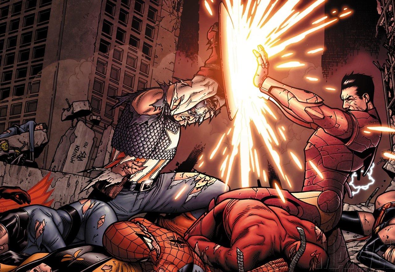 Posterhouzz Comics Civil War Captain America Thor Spider Man Hd