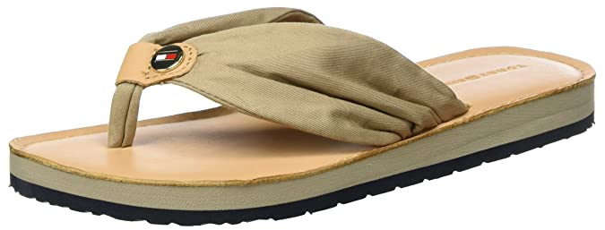 Damen Comfort Low Beach Sandal Zehentrenner, Beige (Cobblestone 068), 38 EU Tommy Hilfiger