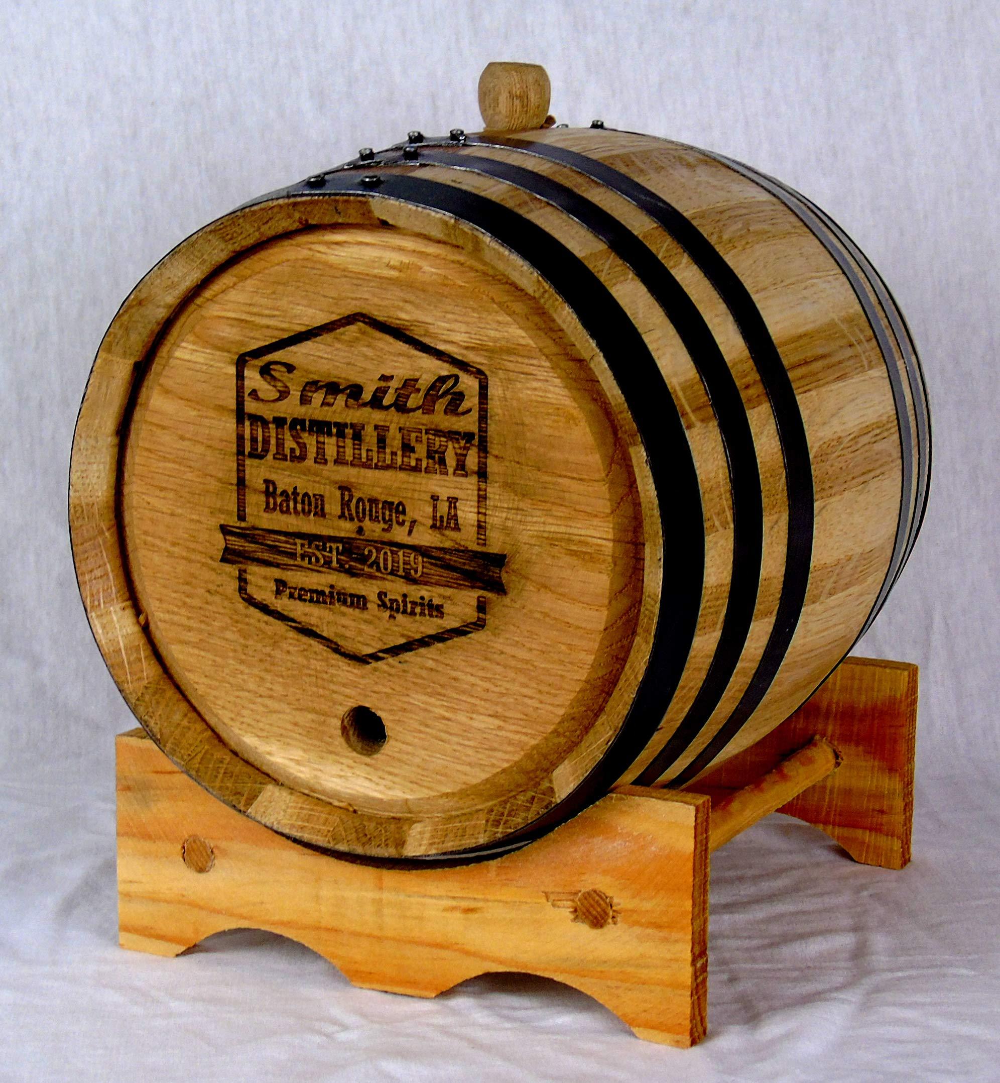 Custom Engraved White American Oak Aging Barrels (10 Liter) RHB129