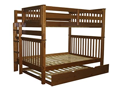 Amazon Com Bedz King Bunk Beds Full Over Full Mission Style With