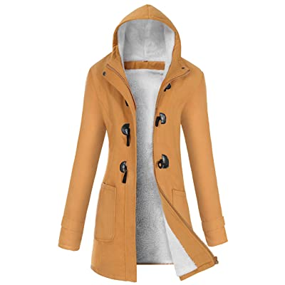 VOGRYE Womens Winter Fashion Outdoor Warm Wool Blended Classic Pea Coat Jacket (FBA): Clothing