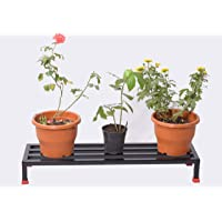 Urban Classic Crafts Plant Stand/Pot Stand, Indoor/Outdoor (Black, Steel Tubes - 1 inch x 1 inch, L 3 ft x W 10 inch x H 5 inch)
