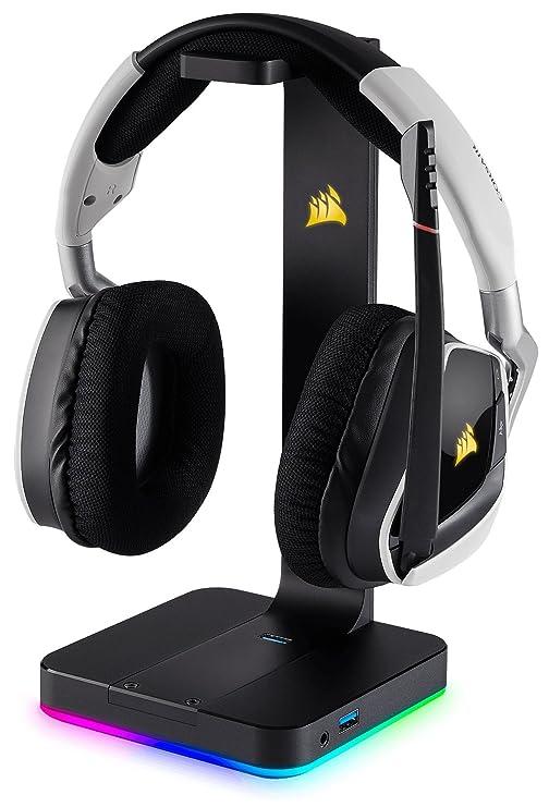 Corsair ST100 RGB Premium Interior Negro - Soporte (Auriculares, Interior, Negro, Respaldo): Amazon.es: Informática