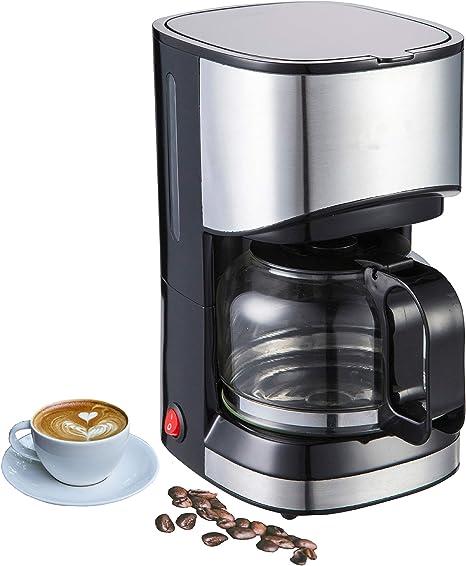 Acero inoxidable Cafetera Eléctrica de diseño, cafetera de filtro, filtro de café eléctrica | Edelstahl Ohne Timer: Amazon.es: Hogar