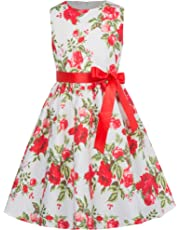 ad8188ea461 GRACE KARIN Girls Sleeveless Vintage Flower Dresses with Ribbon CL8997