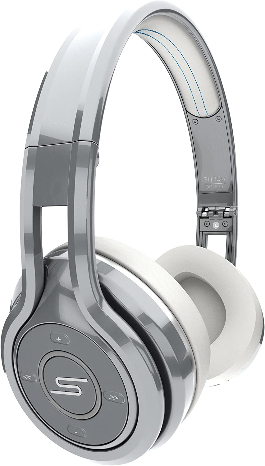 SMS Audio SYNC by 50 Bluetooth Wireless On-Ear Headphones - Silver