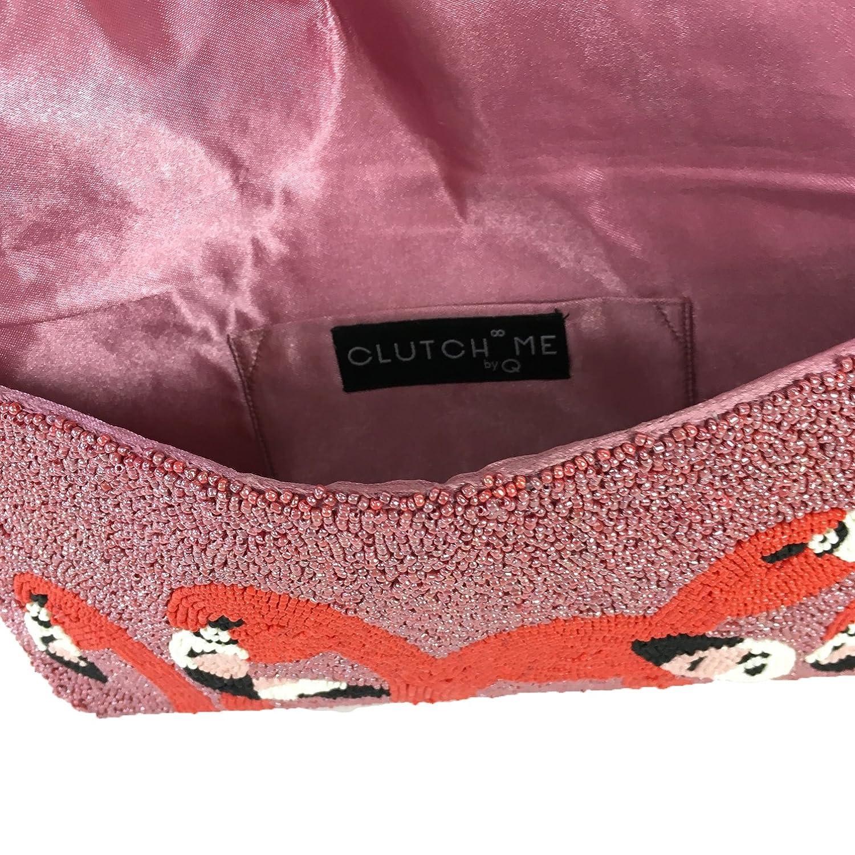 Amazon.com: Embrague Me por Q Flamingo Head Pop Art Beaded ...