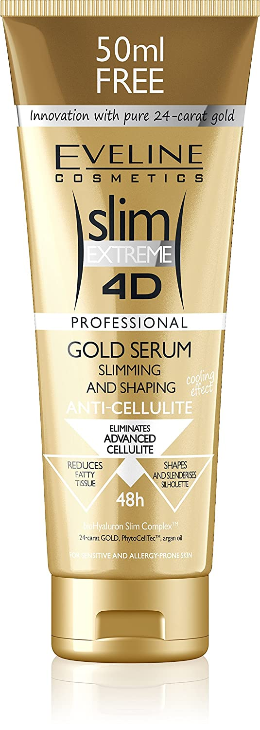 Eveline Cosmetics Slim Extreme 4D Firming Gold Cellulite Serum, 8.8 Ounce Moleo-Baby M00005108