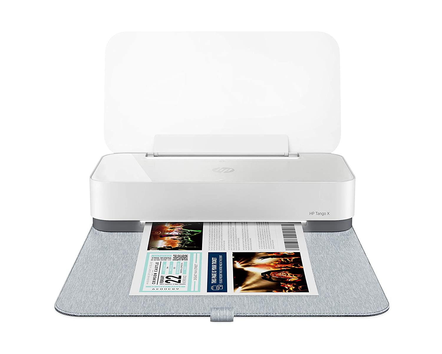 HP Tango X Smart Home Printer with Indigo Linen cover