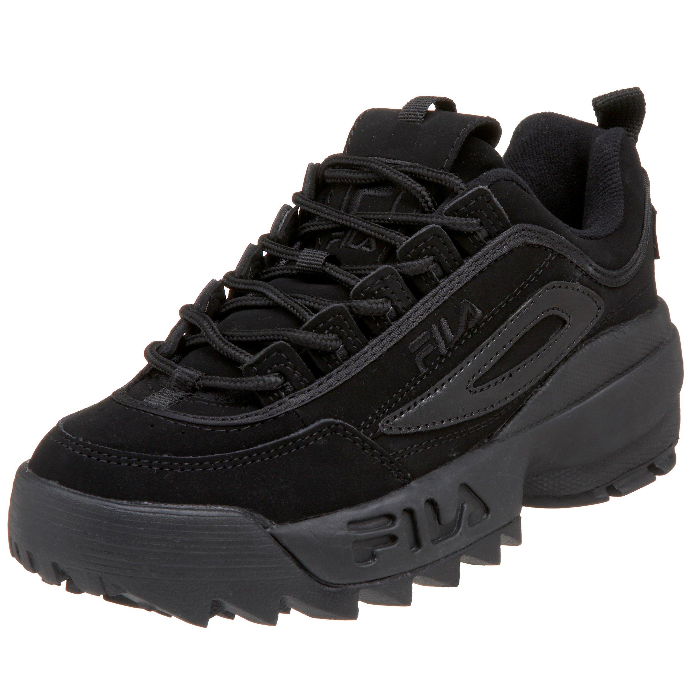 Fila Little Kid/Big Kid Disruptor II Sneaker,Triple Black,5.5 M US Big Kid