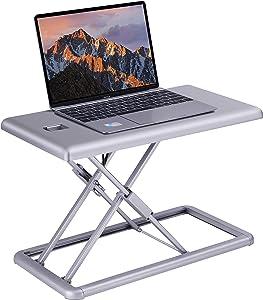 "Lorell Portable Desk Multipurpose Desktop Riser, 15"" x 19"" x 10"", Silver"