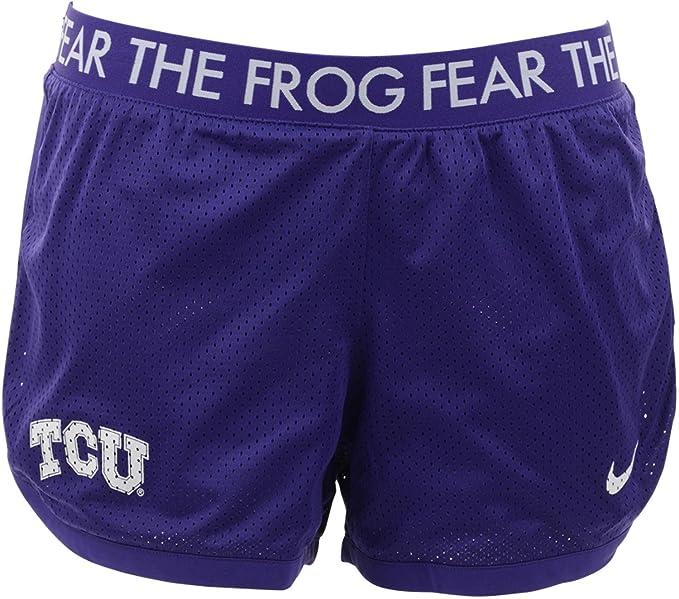 728d8efebc40d7 Nike Women's TCU Texas Christian University Fear The Frog Dri-FIT Mesh  Shorts - Purple