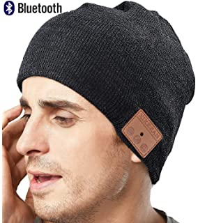 Upgraded Unisex Knit Bluetooth Beanie Winter Music Hat Headphones V4.2 w/Built-