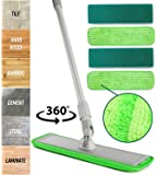 Microfiber Mop Floor Cleaning System - Washable Pads Perfect Cleaner for Hardwood, Laminate & Tile - 360 Dry Wet…