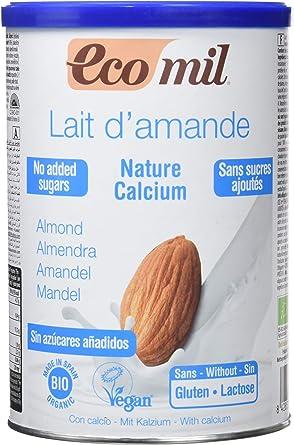 Ecomil Nature, Bebida de almendra Sin Azúcares Añadidos (Calcio) - 400 gr