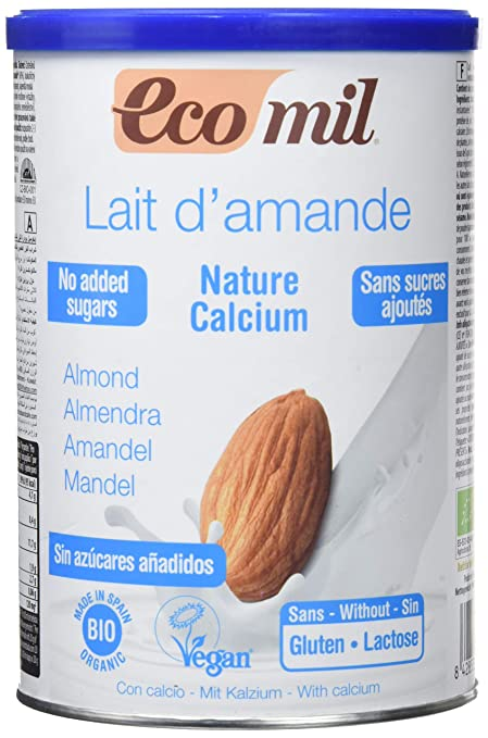 NUTRIOPS - ECOMIL ALMEND NATURE CALCIO 400g NUTRIOPS: Amazon.es: Salud y cuidado personal