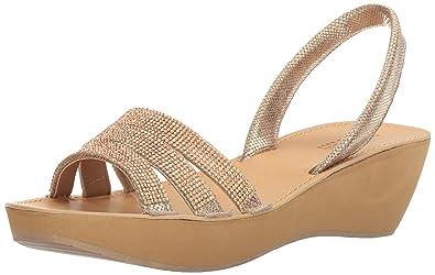 bdb1af5d82f2 Kenneth Cole REACTION Women s Fine Jewel Platform Sandal Soft Gold 6 ...