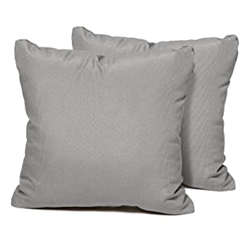 Outdoor Pillows Set Of 2.Tk Classics Square Outdoor Throw Pillows Set Of 2 Grey