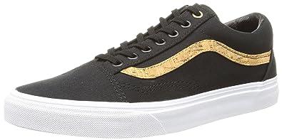 Vans U Old Skool Cork Twill, Sneakers Basses Mixte Adulte, Noir (Cork Twill