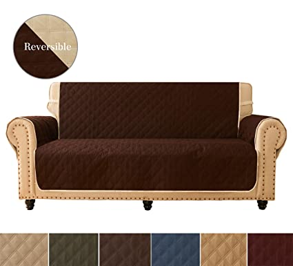 Prime Sofa Cover Reversible Quilted Furniture Protector Ideal Loveseat Slipcovers For Pets Children Water Resistant Will Keep Your Couch Stain Dirt Inzonedesignstudio Interior Chair Design Inzonedesignstudiocom