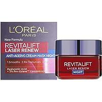 L'Oreal föryngrande nattkräm – Revitalift Laser Renew Cream-Mask Night, 1-pack (1 x 50 ml)