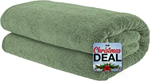 Soft & Absorbent Oversized 40x80 Ringspun Genuine Cotton 650 GSM Premium Hotel & Spa Quality Turkish Bath Sheet Towel, Sage Green