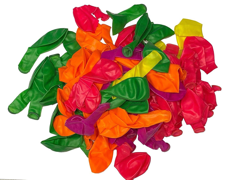 Neon fluoreszierend TrendClub100/® 100 Luftballons Ballon Pink Orange Gr/ün Gelb Lila6Violett