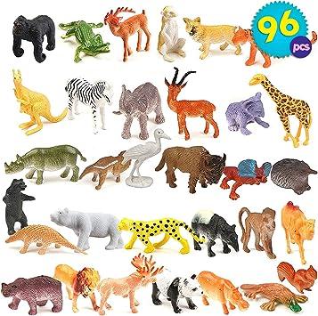 12 Stück Dschungel Tiere Spielzeug Set Kinder Kunststoff Figur Kleinkinder