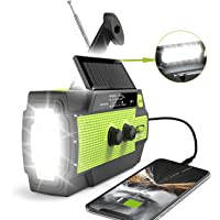 2020 Newest Emergency Crank Radio,4000mAh-Solar Hand Crank Portable AM/FM/NOAA Weather Radio with 1W Flashlight & Motion Sensor Reading Lamp,Cell Phone Charger, SOS Alarm for Home and Emergency