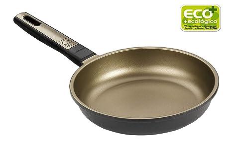 BRA Terra - Sartén 22 cm, aluminio fundido con antiadherente Teflon Selectaptas para todo tipo de cocinas incluida inducción