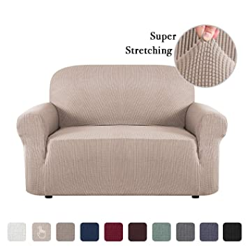 Sofa Slip Cover T Cushion for Leather Stretch Sofa Cover Furniture Covers  for Moving Sofa Covers for 2 Cushion Couch Sofa Slipcovers Skid Proof Form  ...