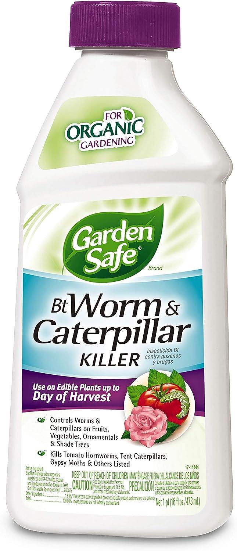 Garden Safe HG-93190 Bt Worm & Caterpillar Killer, Concentrate, 16-Fluid Ounce, Pack of 6, clear