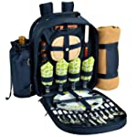 Picnic at Ascot Classic Backpack for 4 with Blanket