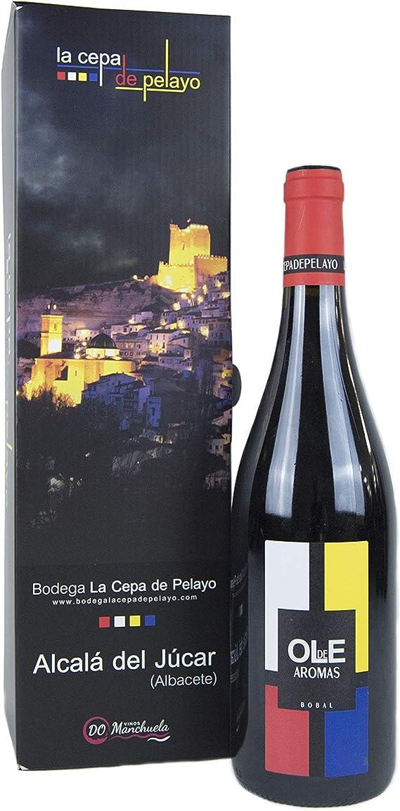 Estuche 1 botella OLE DE AROMAS- Vino Tinto Bobal 75cl-Añada 2017 D.O.Manchuela: Amazon.es: Alimentación y bebidas