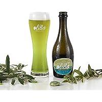 Oliba Green Beer Cerveza Artesana de Olivas Natural Sin gluten - Botella de 33 cl - Caja 12 unidades(12)