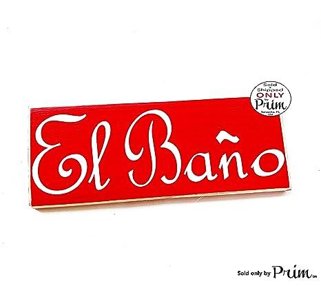 Amazon.com: El bano Español Restroom 10 x 4 (elegir color ...