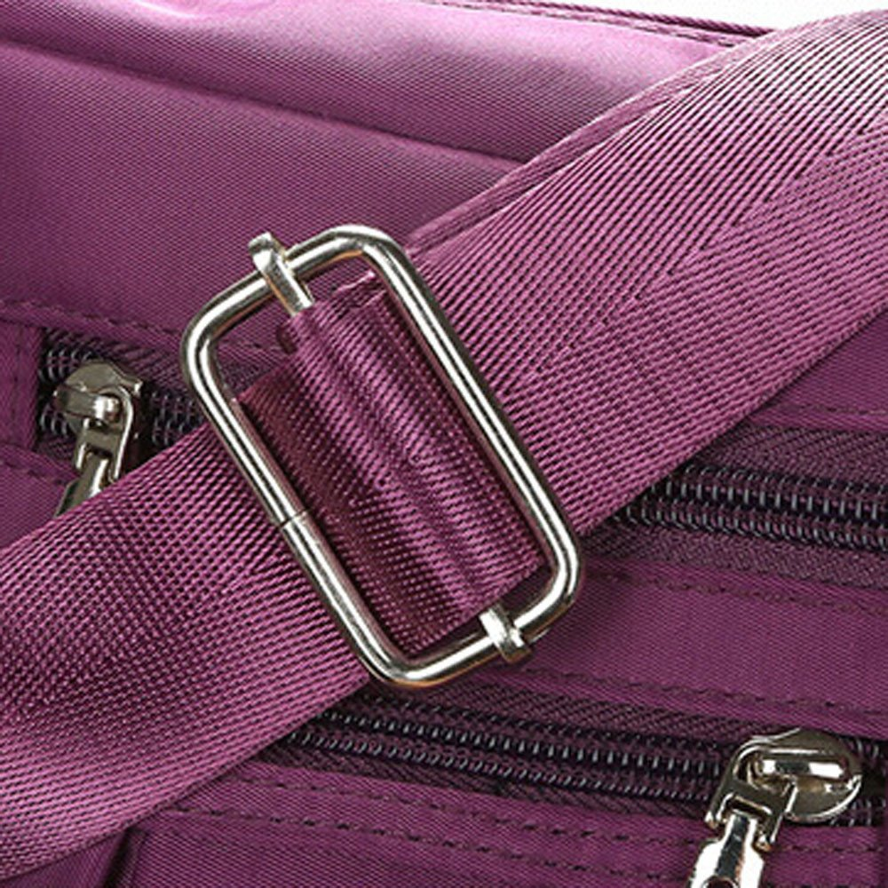 Clearance Sale Women Crossbody Bag Nylon, Fashion Solid [ Zipper Waterproof Shoulder Bag ] (Purple) by Vanvler Backpack (Image #6)