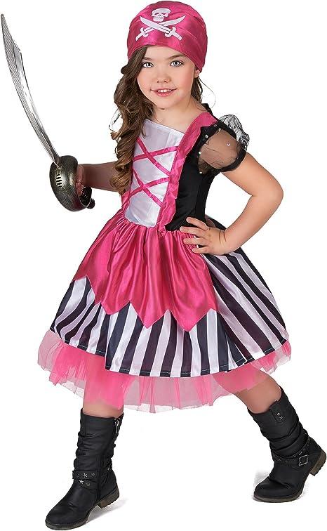 Disfraz pirata rosa niña - 4 - 6 años: Amazon.es: Juguetes y juegos