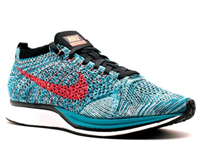 finest selection 032fe be86a Amazon.com   Nike Flyknit Racer Men s Big Kid s Shoes Neon Turquoise Bright  Crimson Glacier Ice 526628-404 (11 D(M) US)   Road Running
