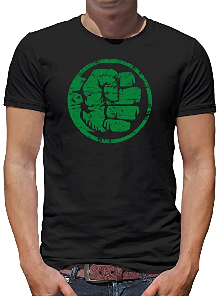 Touchlines Merchandise Hulk Fist Bump Camiseta para Hombre T-Shirt XL Negro