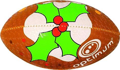 OPTIMUM - Pelota de Rugby de Navidad para niño: Amazon.es ...