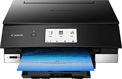Canon TS8220 Wireless All in One Photo Printer with Scannier and Copier, Mobile Printing, Black, Amazon Dash Replenishment enabled