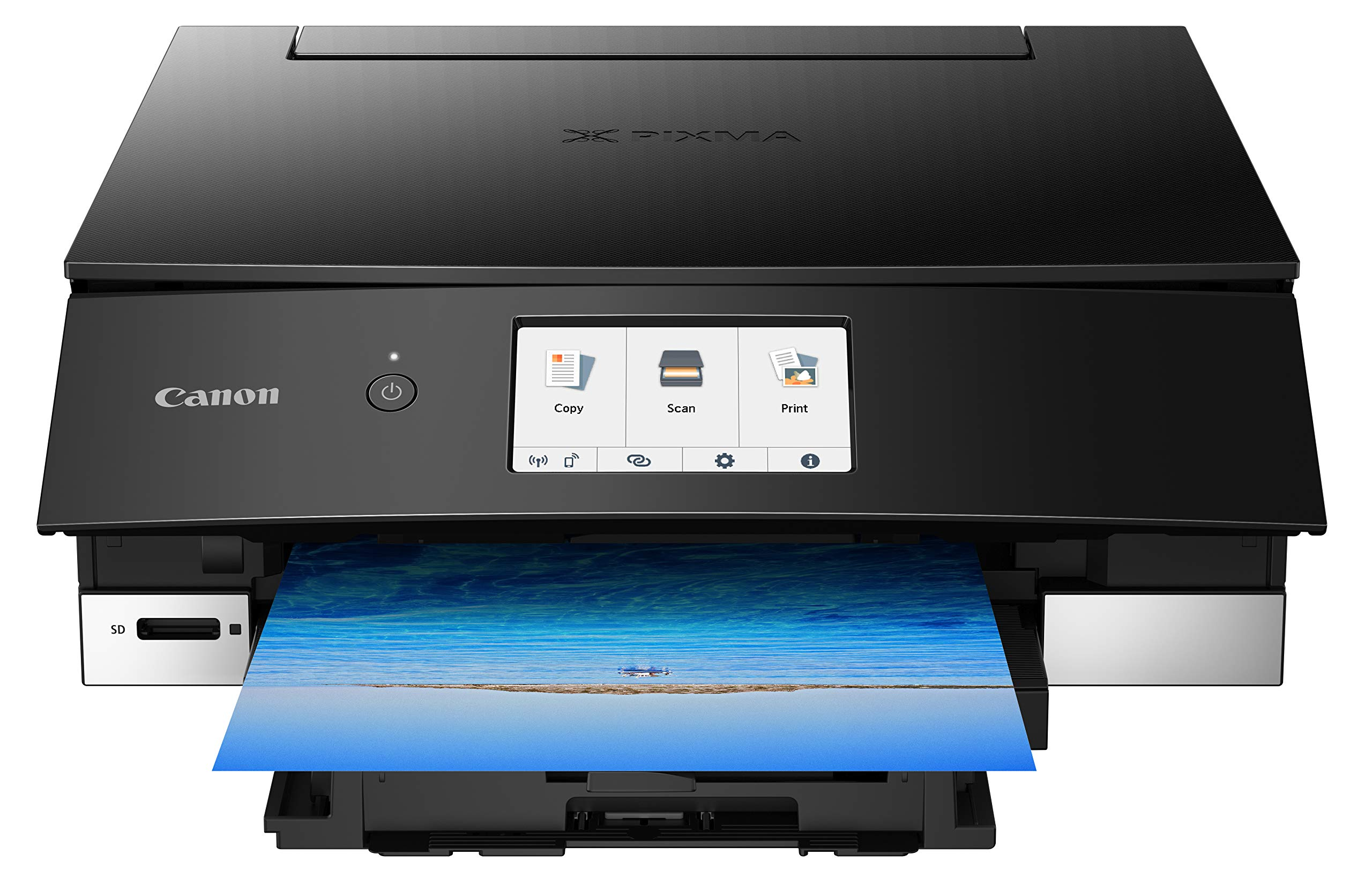 Canon TS8220 Wireless All in One Photo Printer with Scannier and Copier, Mobile Printing, Black by Canon (Image #1)