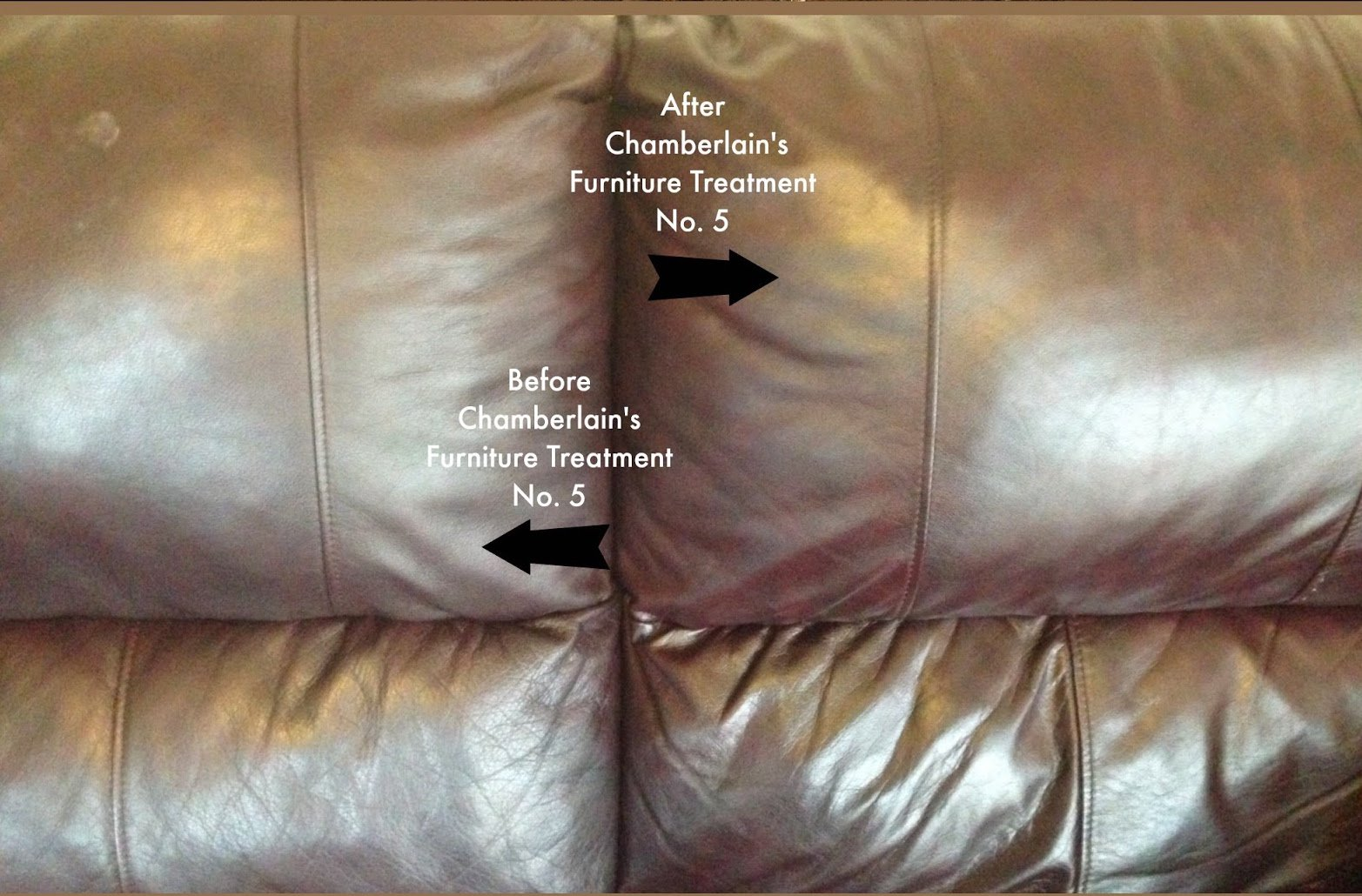 Leather Milk Leather Furniture Conditioner and Cleaner - Furniture Treatment No. 5 - For All Natural, Non-Toxic Leather Care. Made in the USA. 2 Sizes. Includes Premium Applicator Pad! by Chamberlain's Leather Milk (Image #8)