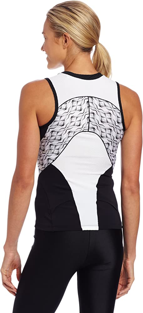 Pearl Izumi Femmes Infinity In-r-cool manches longues Maillot//Noir Blanc
