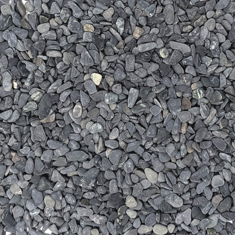"Midwest Hearth Natural Decorative Gray Bean Pebbles 1/5"" Size (10-lb Bag)"