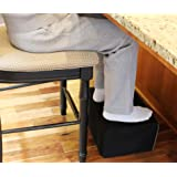 "InteVision Extra Large Foot Rest - Foam Cushion with Non-Slip Nylon Cover (17.5"" x 12"" x 8"") – Designed to Support Your Legs & Feet Comfortably While Sitting on a bar Stool or Counter Height Chair"