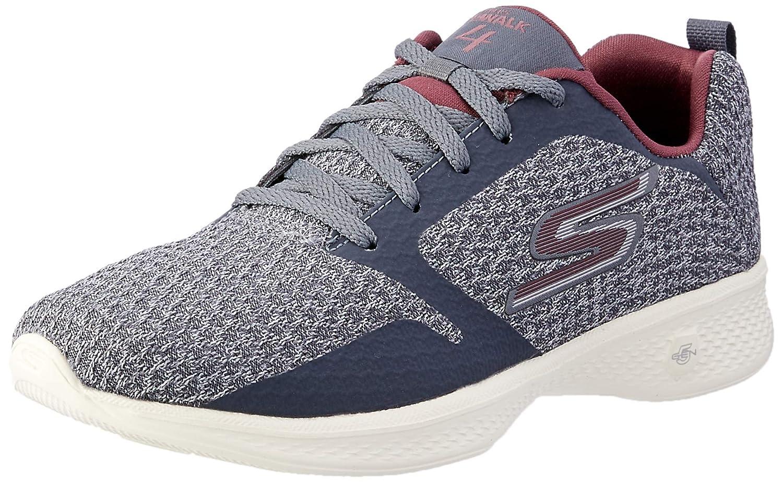 Skechers Australia GO Walk 4  Desire Women's Walking shoes, Charcoal Burgundy, 9 US