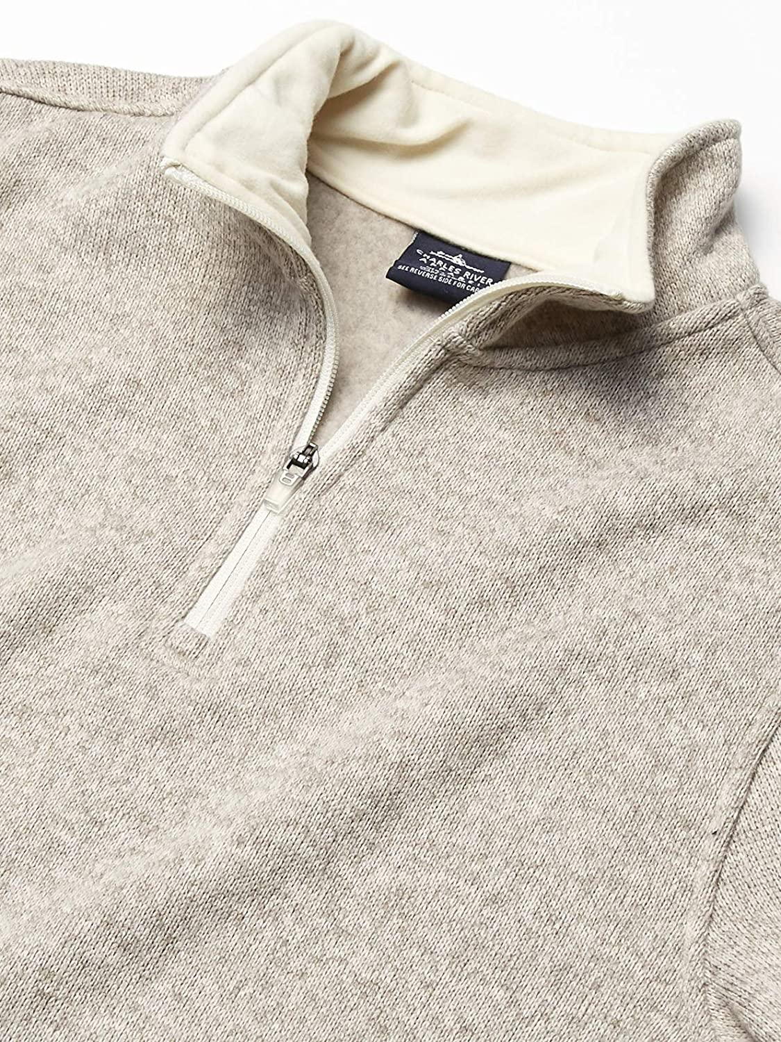 Charles River Apparel Mens Heathered Fleece Pullover