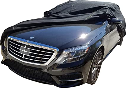 sun protection Oxford cloth surface heat insulation Car cover Compatible with Mercedes-Benz 450SL Convertible car cover Private cust rain protection silver plating thickening and velvet heating
